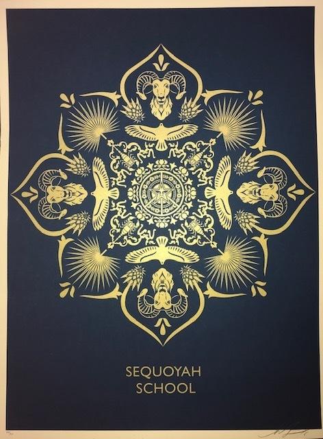 Shepard Fairey, 'Sequoyah School Mandala ', 2016, Print, Screen Print On Speckle Tone Paper, New Union Gallery