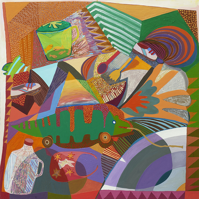 , 'Alligator Quilt,' 2017, Gregory Lind Gallery
