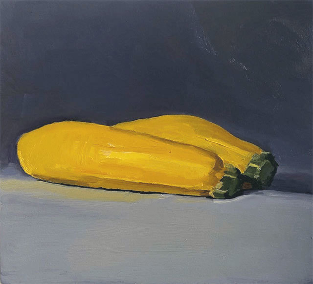 Dan McCleary, 'Zucchini', 10.23.19, Painting, Oil on canvas, Craig Krull Gallery