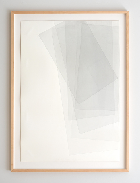 Joachim Bandau, 'untitled, 1. August 2014', 2014, Drawing, Collage or other Work on Paper, Watercolor on hand made paper (Fabriano Artistico), Japan Art - Galerie Friedrich Mueller