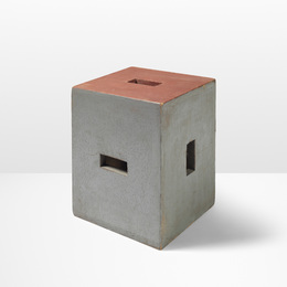 Le Corbusier, 'Rare stool from Unite d'habitation, Nantes-Reze,' 1954-1955, Wright: Design Masterworks