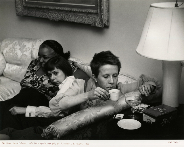"Ruth Orkin, 'Ethel Waters, Carson McCullers and Julie Harris at opening night party for ""Member of a Wedding""', 1950, Etherton Gallery"
