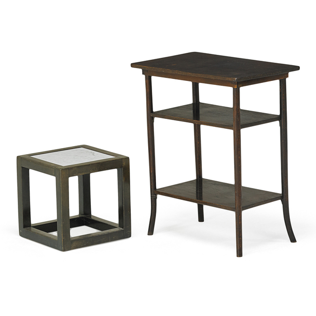 Josef Hoffmann, 'Cube Table And Tiered Table, Austria', ca. 1905/Early 20th C., Rago
