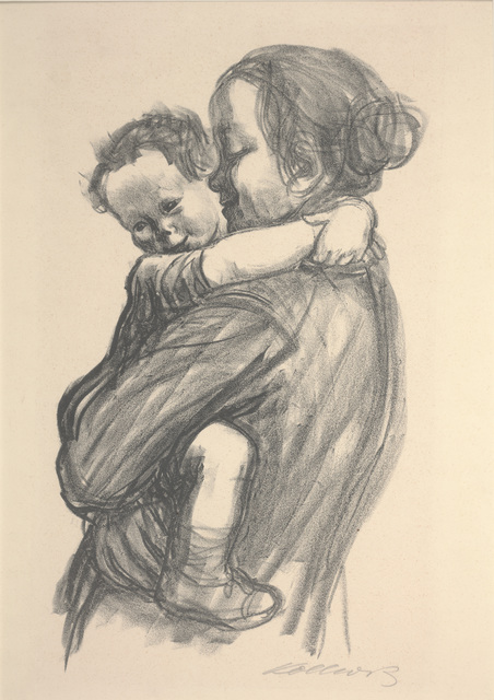 Käthe Kollwitz, 'Boy with Arms Around Mother's Neck', 1931, Print, Lithograph, Dallas Museum of Art