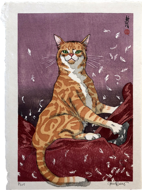, 'Cat Feathers Red,' 2018, Scholten Japanese Art
