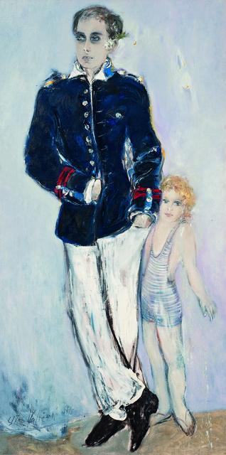 SRĐAN VUKČEVIĆ, 'Portrait with a Jasmine Flower and a Little Bather', 1996, Museum of Modern Art Dubrovnik