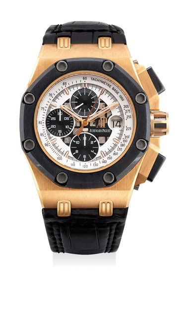 Audemars Piguet, 'A fine pink gold and ceramic chronograph with date, numbered 374 of a limited edition of 500 pieces', Circa 2006, Phillips