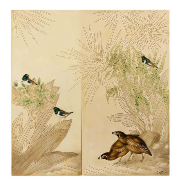 , 'Bobwhite Quails and Chinese Swallows,' , Galerie Dumonteil
