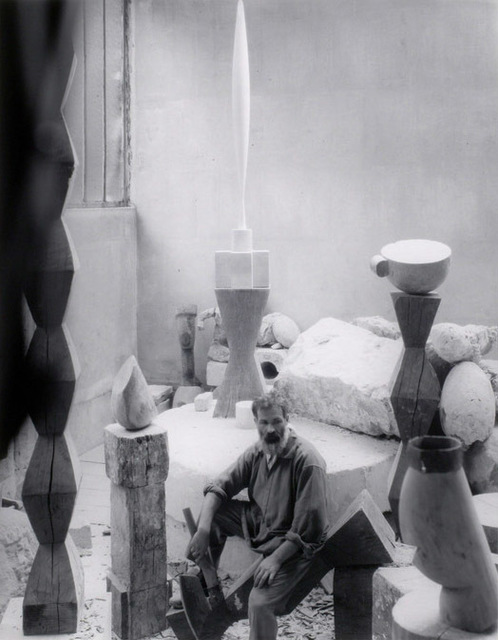 , 'Constantin Brâncuși in his studio, Paris,' 1927, Staley-Wise Gallery