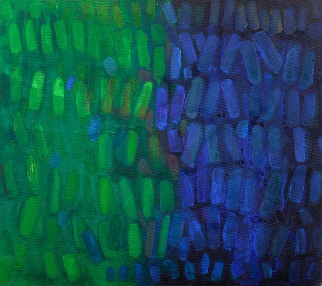 , 'Blue Green,' 1964, Berry Campbell Gallery