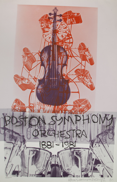 Robert Rauschenberg, 'Boston Symphony Orchestra Poster', 1981, Print, Offset lithograph on paper, Julien's Auctions
