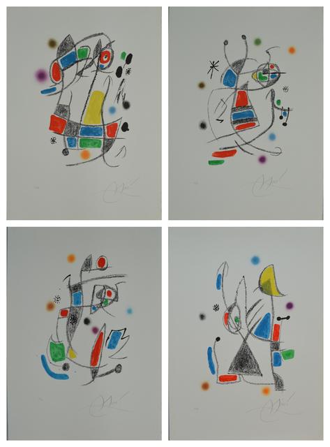 Joan Miró, 'Maravillas con variaciones acrósticas (4 works)', 1975, Print, Lithograph, Long-Sharp Gallery