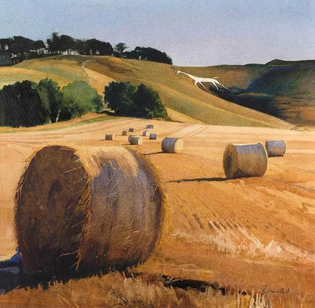 , 'Harvest, Cherhill White Horse,' , Mall Galleries
