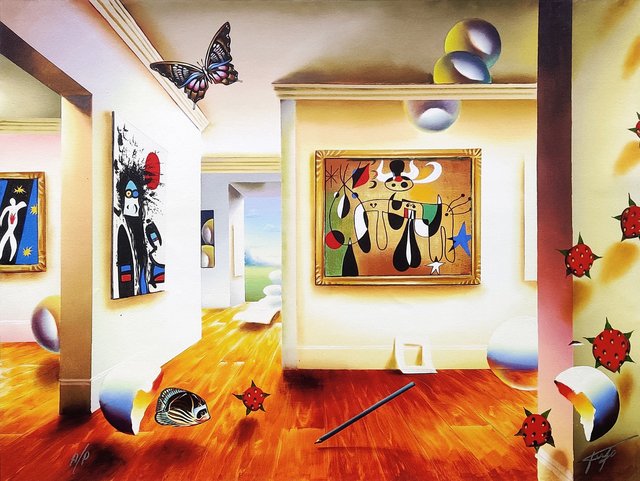 Ferjo, 'HOMAGE TO MIRO', 2005, Print, GICLEE ON CANVAS, Gallery Art