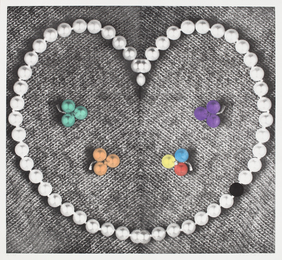 Heart (with Pearls)