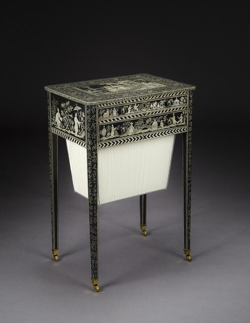 English, 'Penwork Work Table in the Regency Taste', ca. 1800, Hirschl & Adler Galleries