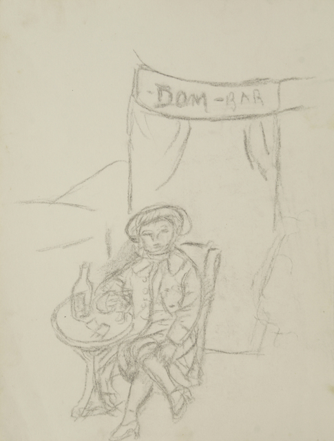 Marie Vorobieff Marevna, 'A man drinking in front of Dom-Bar', Roseberys