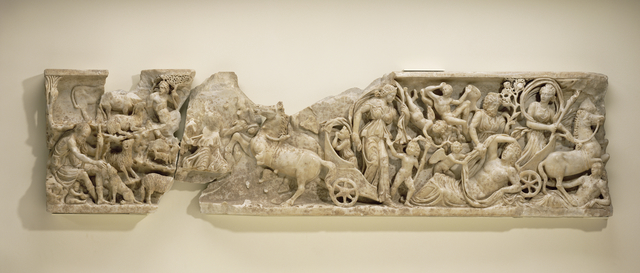 'Front of a Sarcophagus with the Myth of Endymion', ca. 210, J. Paul Getty Museum