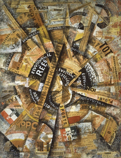 , 'Interventionist Demonstration (Manifestazione Interventista),' 1914, Guggenheim Museum