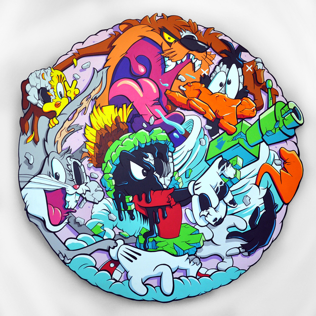 , 'Looney Tunes Deconstructed,' 2017, Avenue des Arts