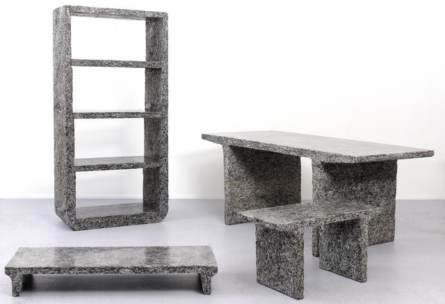 """Jens Praet, 'Shredded """"Elle Decor""""  Library', 2012, Design/Decorative Art, Elle Decor Magazines magazines, clear resin"""