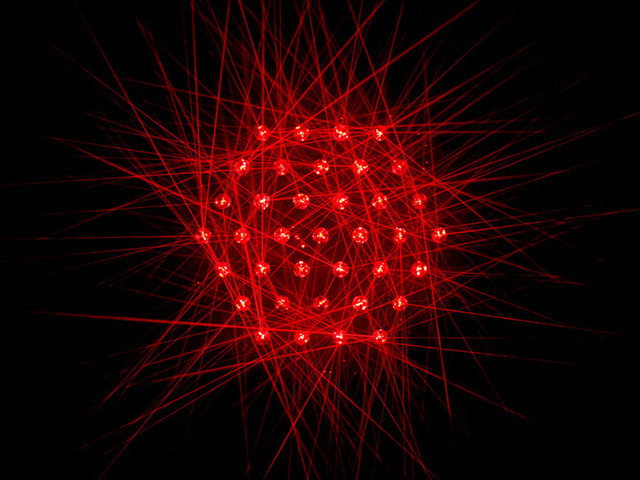 Chris Levine, 'Flower of Life (Light Sculpture)', 2008, Sculpture, Micro laser with mechanised crystal, Collectors Contemporary
