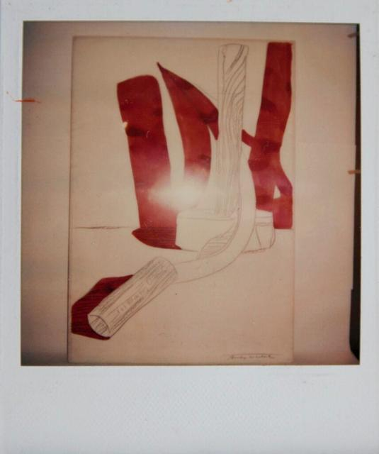 Andy Warhol, 'Andy Warhol, Hammer and Sickle Painting Detail, Polaroid Photograph, 1977', 1977, Hedges Projects