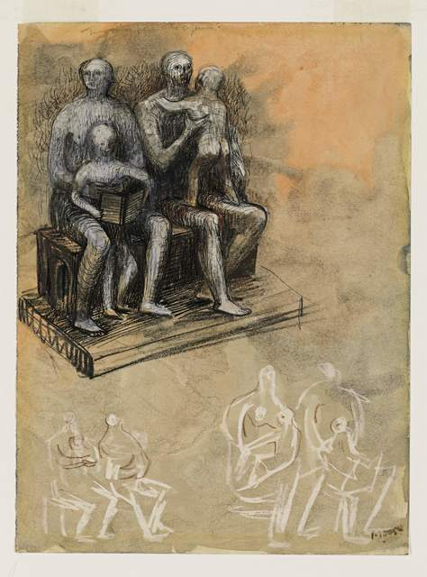 , 'Family Groups,' 1943, Osborne Samuel