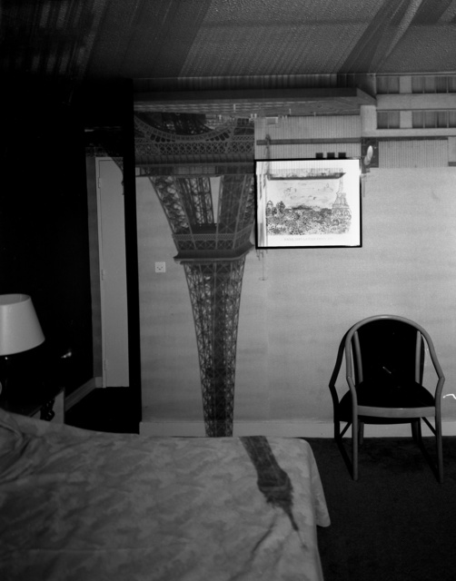 , 'Camera Obscura: The Eiffel Tower in the Hotel Frantour,' 1999, Huxley-Parlour