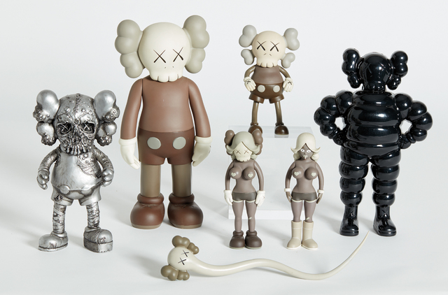 KAWS, 'Six Works: (Real) Companion; CHUM; Bendy; Companion (Five Years Later); PUSHEAD; and THE TWINS', 1999-2006, Phillips