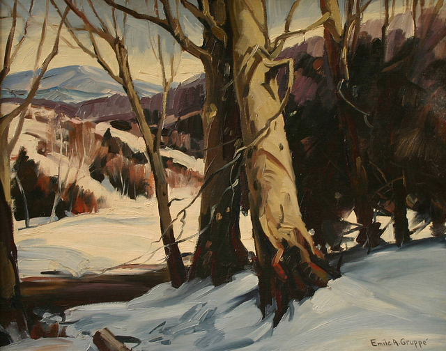 , 'Beeches in Snow,' , Questroyal Fine Art