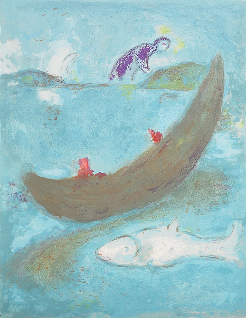 Marc Chagall, 'The Dead Dolphin and the Three Hundred Dracmas, from Daphnis and Chlöe', 1961, Print, Lithograph in colors, Rago/Wright