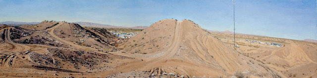 Rackstraw Downes, 'Presidio: In the Sand Hills Looking West with ATV Tracks & Cell Tower', 2012, Betty Cuningham