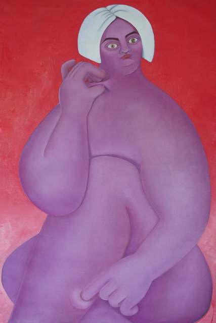 Georgia Dymock, 'Purple Pinch', 2020, Painting, Oil on canvas, Maggio Art Consultancy