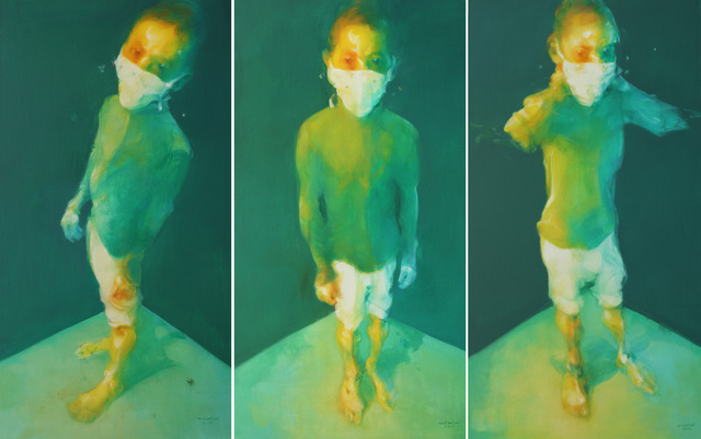 , 'Man Wearing a Mask (Triptych),' 2016, de Sarthe Gallery