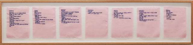 , 'Pink Slip #2 (Logbook Of Nigatif Thorts),' 2017, Galleri Tom Christoffersen