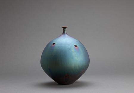 , 'Vase, peacock glaze,' , Pucker Gallery