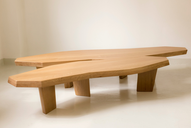 , 'Large double COFFEE TABLE in oak sculpted by Jacques JARRIGE,' 2017, Valerie Goodman Gallery