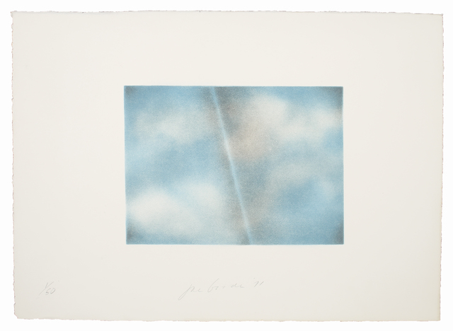 , 'Grey Folded Clouds - II Blue and white,' 1971, Bernard Jacobson Gallery