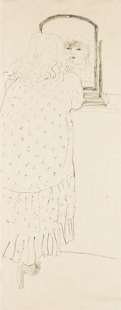 , 'Ann Putting on Lipstick. Signed by David Hockney Edn of 75,' 1979, Mr & Mrs Clark's