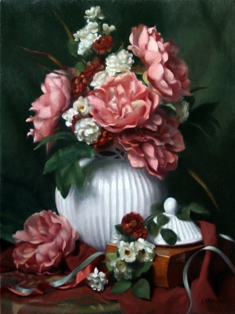 Lynne B. Mehlman, 'Peonies, Roses, and Ribbons', ca. 2015, The Guild of Boston Artists