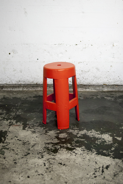 , 'Red Stool I,' 2017, Ever Gold [Projects]