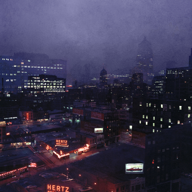 Mario Carnicelli, 'View from hotel room, Chicago', 1966, Photography, 2021 Super chromogenic print, David Hill Gallery