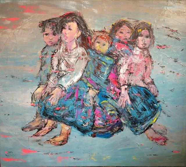 , 'Mountaineer Children,' 2014, International Modern Art Gallery