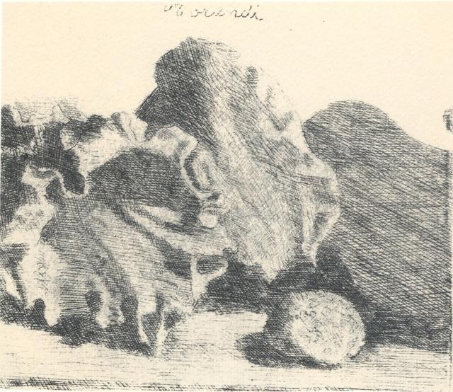 , 'Natura morta con vaso, conchiglia e chitarra,' 1921, Galleria d'Arte Maggiore G.A.M.