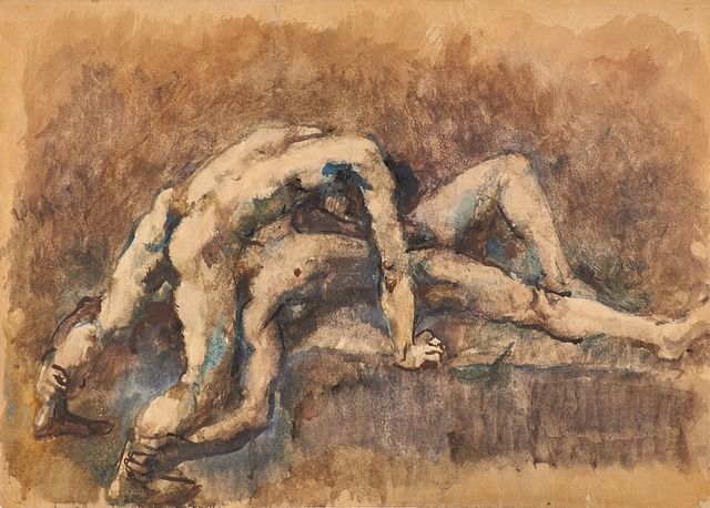 Pavel Tchelitchew, 'Wrestlers', 1932, Rago/Wright