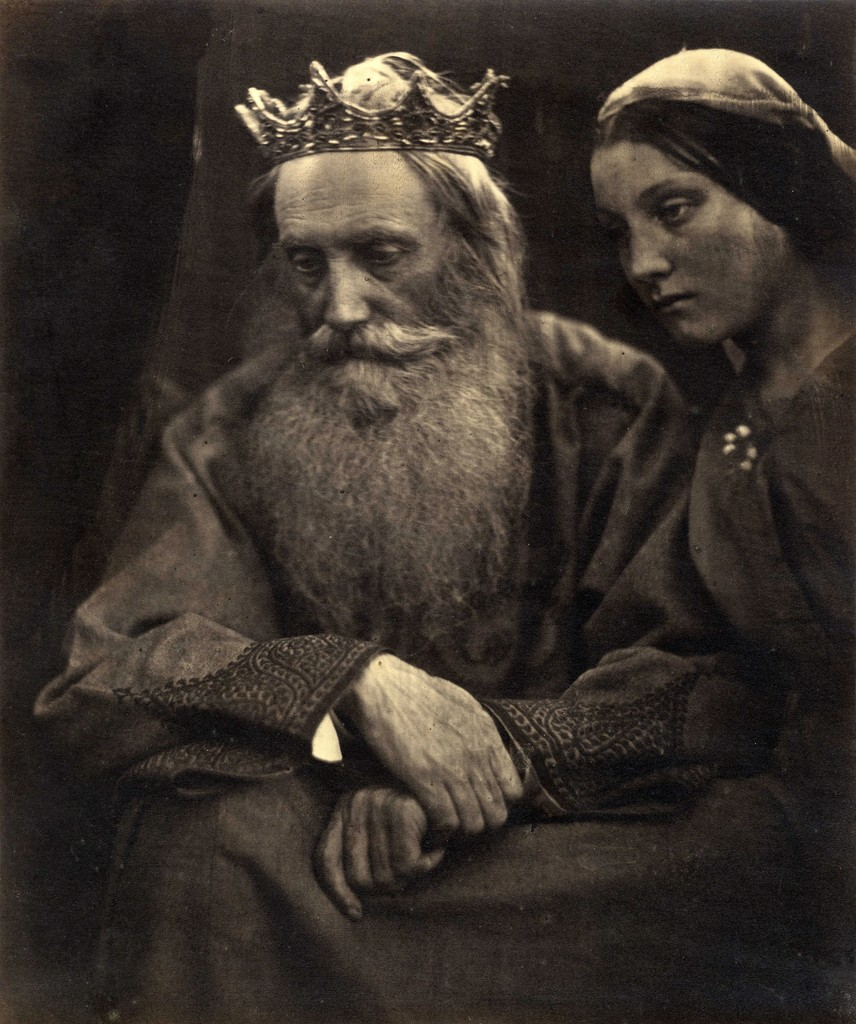 Julia Margaret Cameron. King David and Bathsheba (Henry Taylor and Mary Hillier), 1869. Albumen print from collodion-on-glass negative. Collection of Michael Mattis and Judy Hochberg.