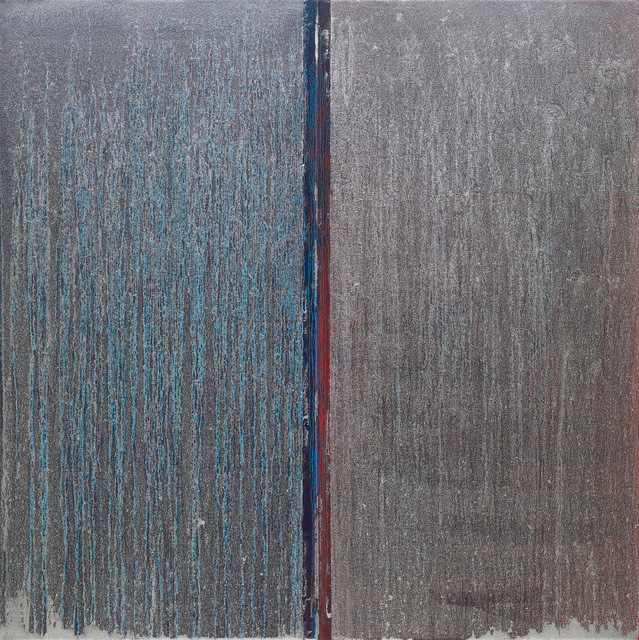 Pat Steir, 'Blue and Red with Silver Over', 2019, Locks Gallery