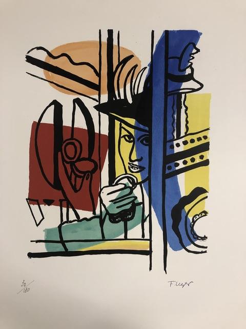 Fernand Léger, 'La Femme au Poudrier', 1959, Print, Original lithograph on vélin d'Arches paper, Samhart Gallery