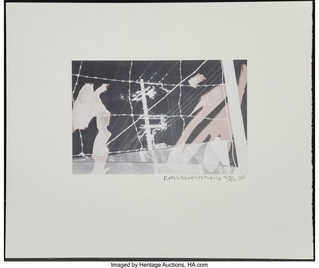 Robert Rauschenberg, 'Untitled (From the Bleacher Series)', 1990, Photography, Bleached gelatin silver, Heritage Auctions